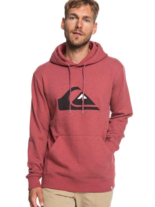 0 Big Logo - Sweat à capuche pour Homme Rouge EQYFT03922 Quiksilver