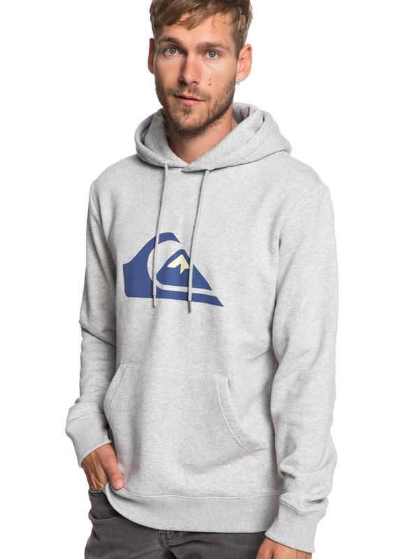 0 Big Logo - Sweat à capuche pour Homme Gris EQYFT03922 Quiksilver