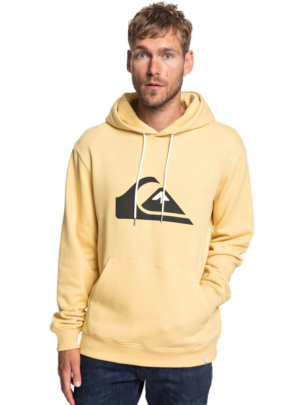 0 Big Logo - Hoodie for Men Yellow EQYFT03922 Quiksilver