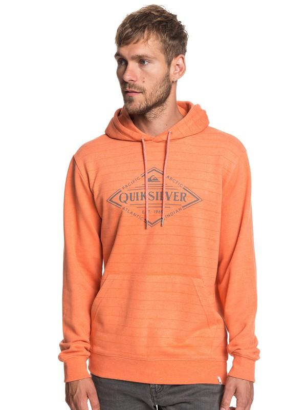 0 X Elite - Hoodie for Men Orange EQYFT03923 Quiksilver