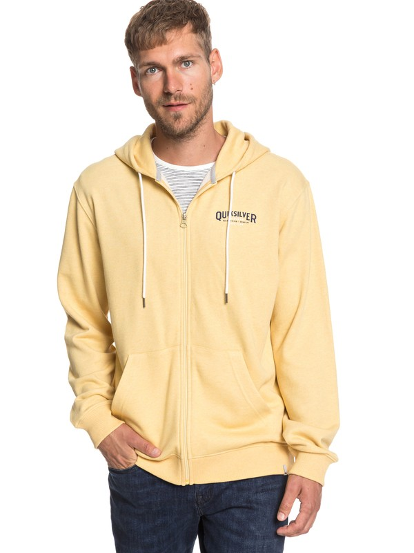 0 X Comp Elite - Zip-Up Hoodie for Men Yellow EQYFT03925 Quiksilver