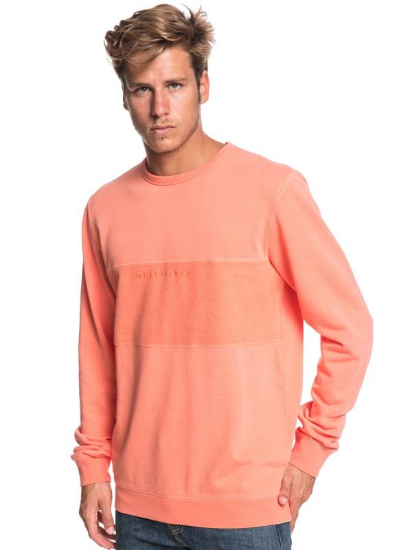 0 Voodoo Red Zone - Sweatshirt for Men Orange EQYFT03931 Quiksilver