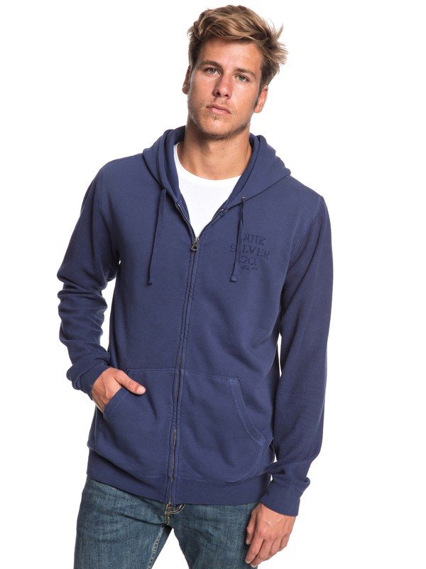 0 Voodoo Red Zone - Zip-Up Hoodie for Men Blue EQYFT03933 Quiksilver