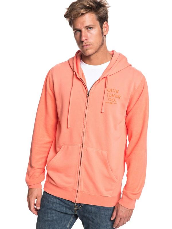 0 Voodoo Red Zone - Zip-Up Hoodie for Men Orange EQYFT03933 Quiksilver
