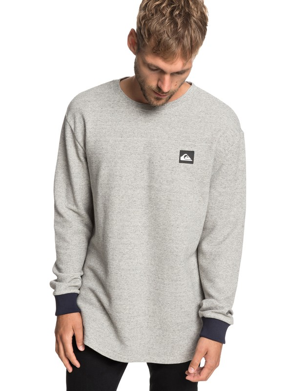 0 True Roots Sweatshirt Grey EQYFT03935 Quiksilver