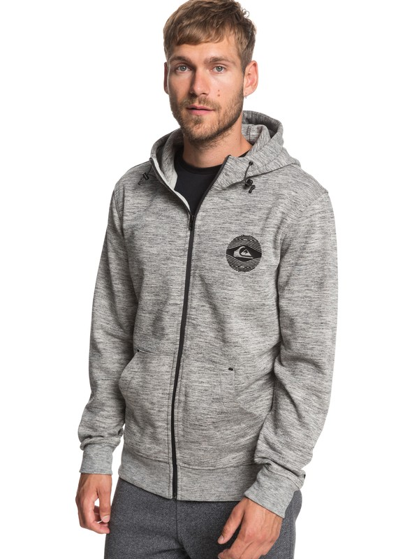 0 Yattemi - Zip-Up Hoodie for Men Grey EQYFT03942 Quiksilver