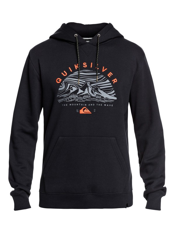 0 Big Logo Snow Technical Hoodie Black EQYFT03955 Quiksilver