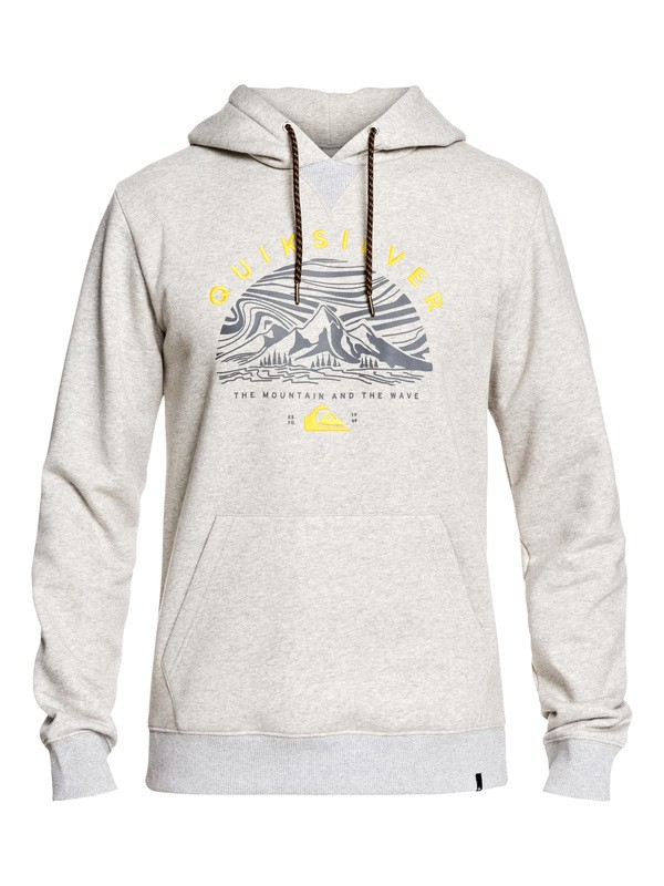 0 Big Logo Snow Technical Hoodie Grey EQYFT03955 Quiksilver