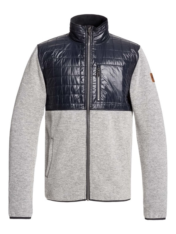 0 Into The Wild Technical Zip-Up Mock Neck Fleece Grey EQYFT03962 Quiksilver