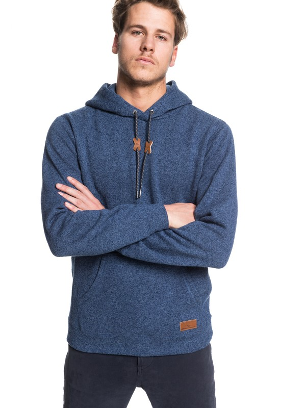 0 Keller Hooded Sweater Blue EQYFT04009 Quiksilver