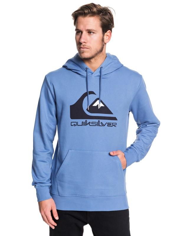 0 Omni Logo Hoodie Blue EQYFT04025 Quiksilver