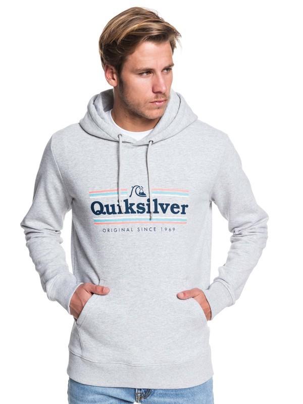0 Get Buzzy Hoodie Grey EQYFT04045 Quiksilver