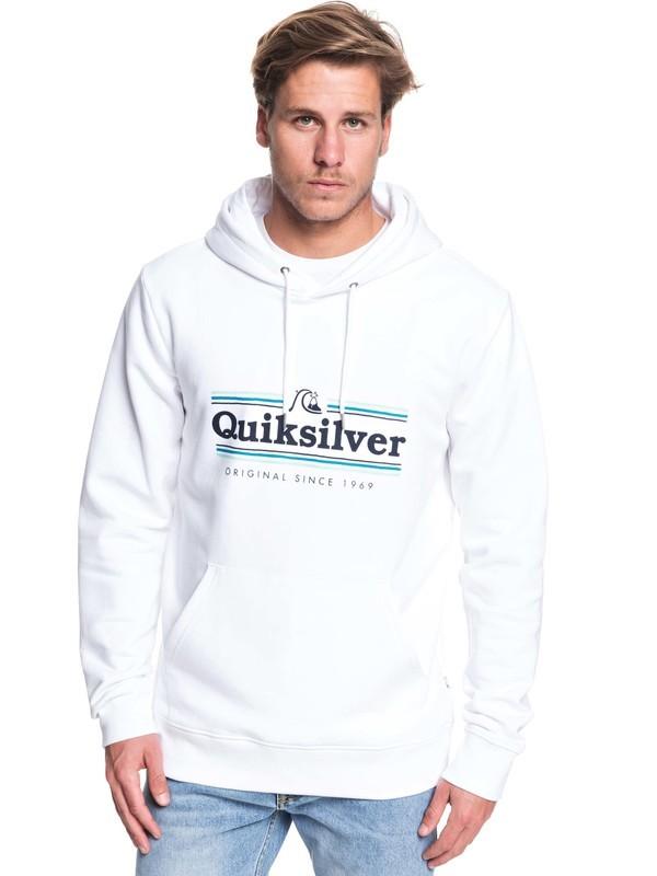 0 Get Buzzy Hoodie White EQYFT04045 Quiksilver