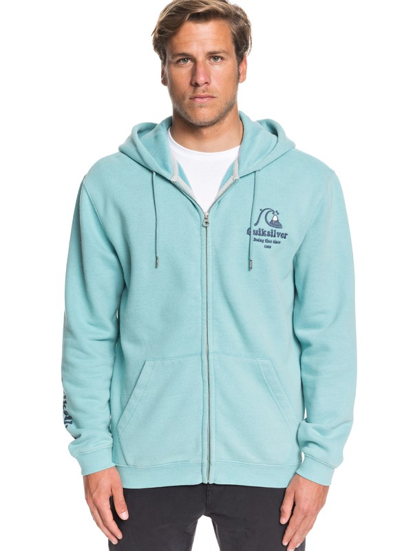 0 Sweet As Slab Zip-Up Hoodie Blue EQYFT04064 Quiksilver