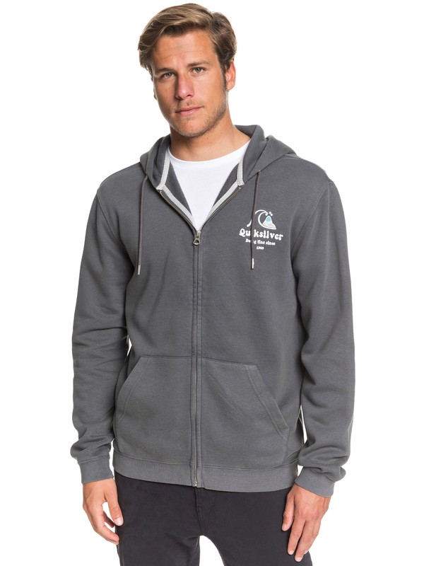 0 Sweet As Slab Zip-Up Hoodie Black EQYFT04064 Quiksilver