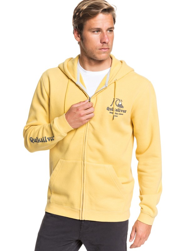 0 Sweet As Slab Zip-Up Hoodie Yellow EQYFT04064 Quiksilver