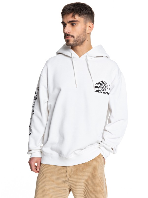 0 Positive Vibrations Hoodie White EQYFT04074 Quiksilver