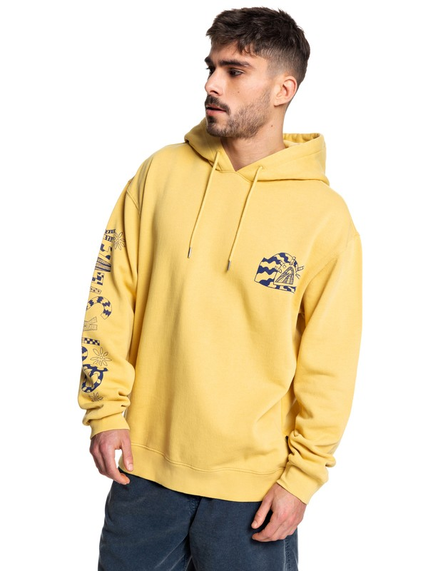 0 Positive Vibrations Hoodie Yellow EQYFT04074 Quiksilver