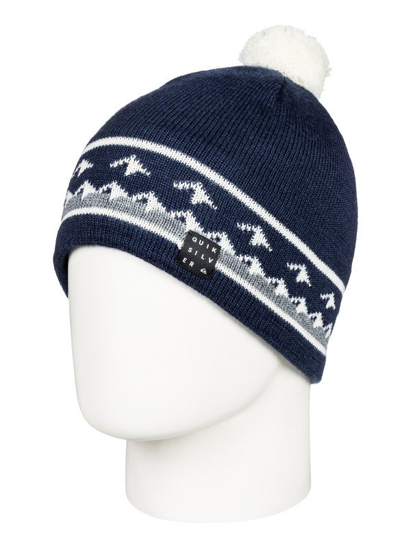 0 Barrow - Beanie for Men Blue EQYHA03153 Quiksilver