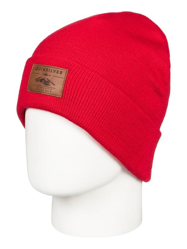 0 Brigade - Bonnet pour Homme Rouge EQYHA03160 Quiksilver