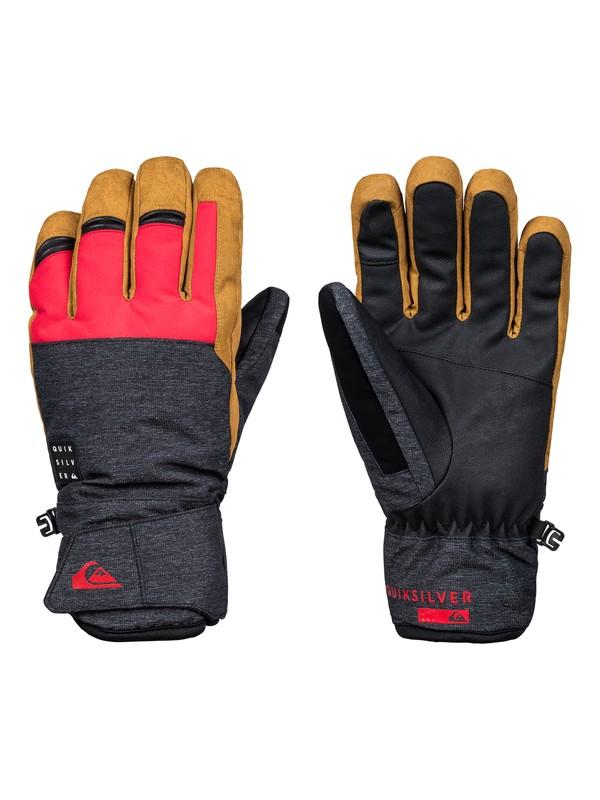 0 Gates - Ski/Snowboard Gloves for Men Red EQYHN03110 Quiksilver