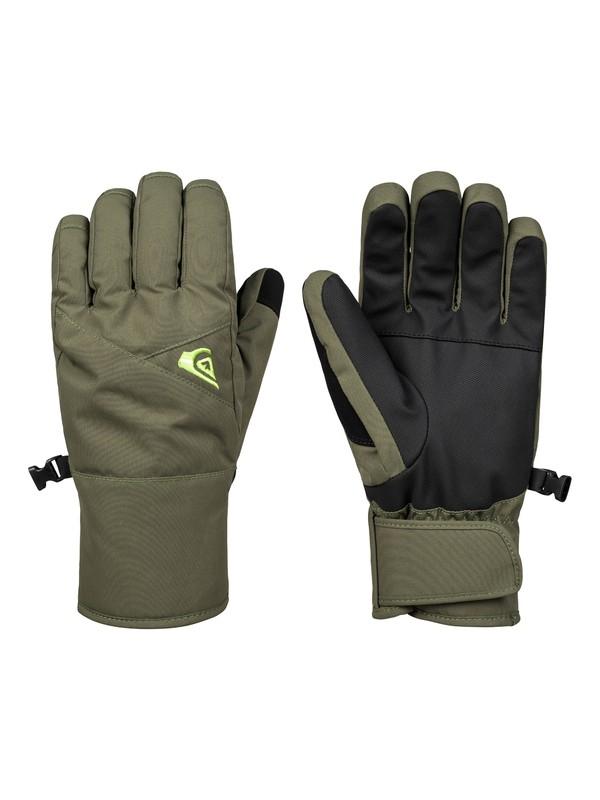 0 Сноубордические перчатки Cross Коричневый EQYHN03113 Quiksilver