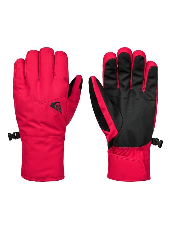 0 Сноубордические перчатки Cross Красный EQYHN03113 Quiksilver