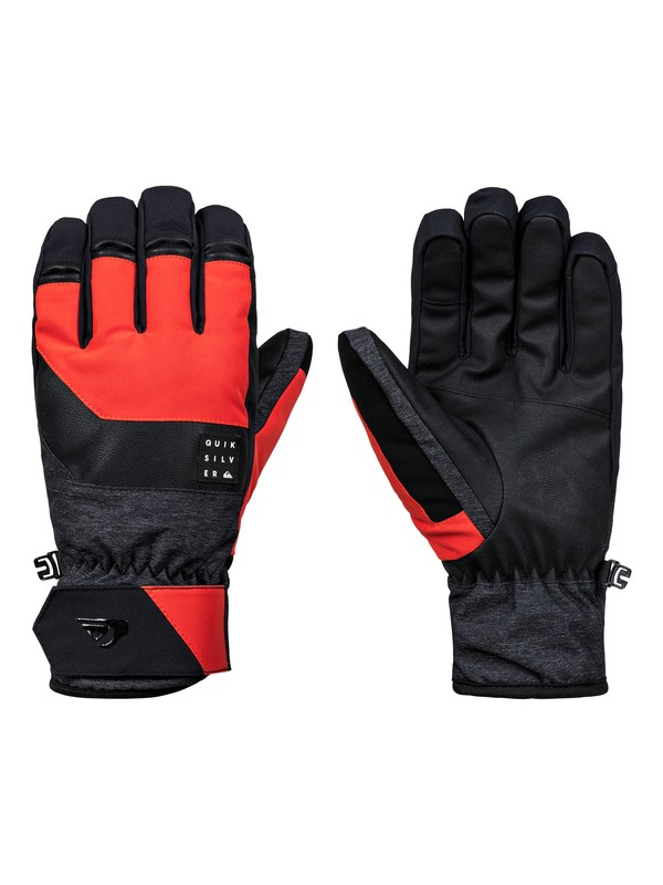 0 Gates Glove Snowboard/Ski Gloves Orange EQYHN03124 Quiksilver
