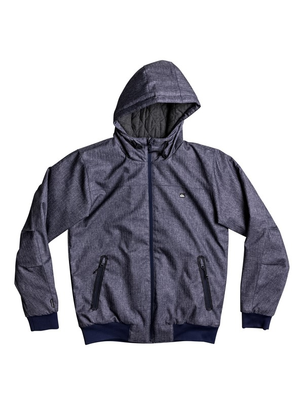 0 Brooks 5K - Waterproof Hooded Jacket for Men Blue EQYJK03241 Quiksilver