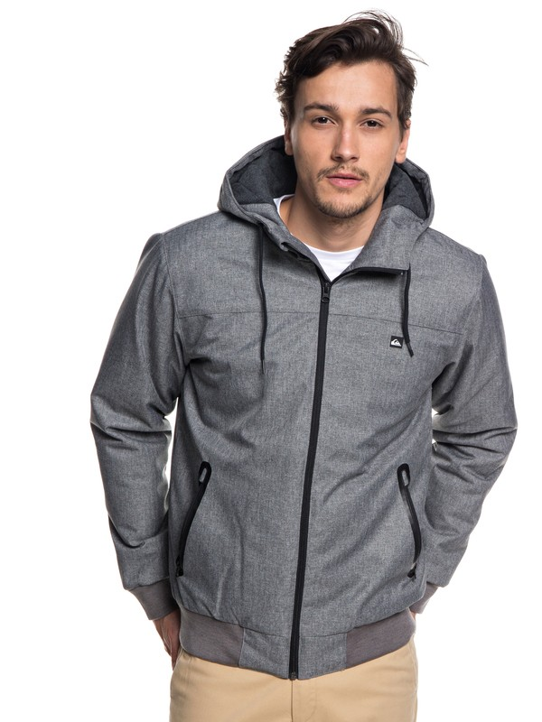 0 Brooks 5K - Waterproof Hooded Jacket for Men Grey EQYJK03241 Quiksilver