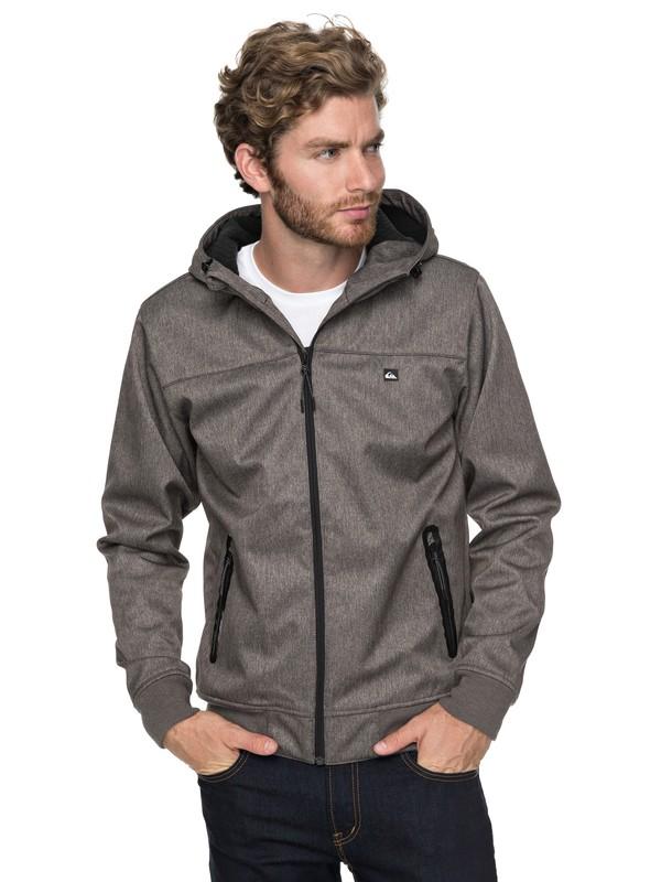 0 Brooks Bonded - Waterproof Softshell Jacket for Men Black EQYJK03382 Quiksilver