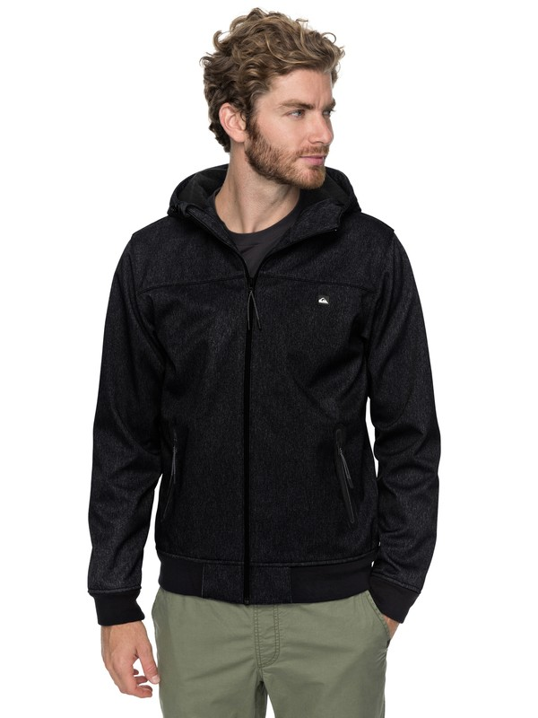 0 Brooks Bonded - Waterproof Softshell Jacket for Men Black EQYJK03382 Quiksilver
