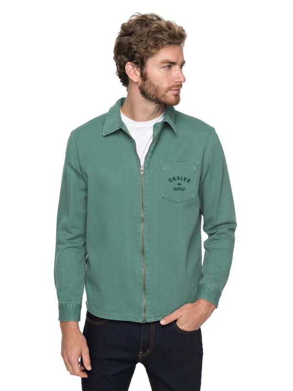 0 Riser Twill - Reißverschluss-Jacke für Männer Grün EQYJK03391 Quiksilver