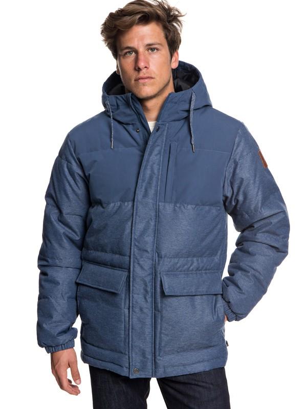 0 Full Fin - Chaqueta acolchada impermeable con capucha para Hombre Azul EQYJK03392 Quiksilver
