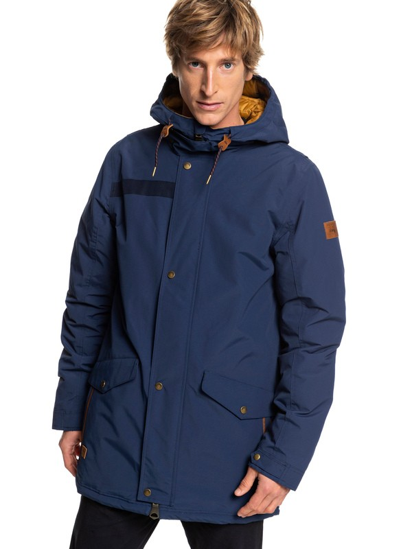 0 Cordova - Waterproof Hooded Parka for Men Blue EQYJK03409 Quiksilver