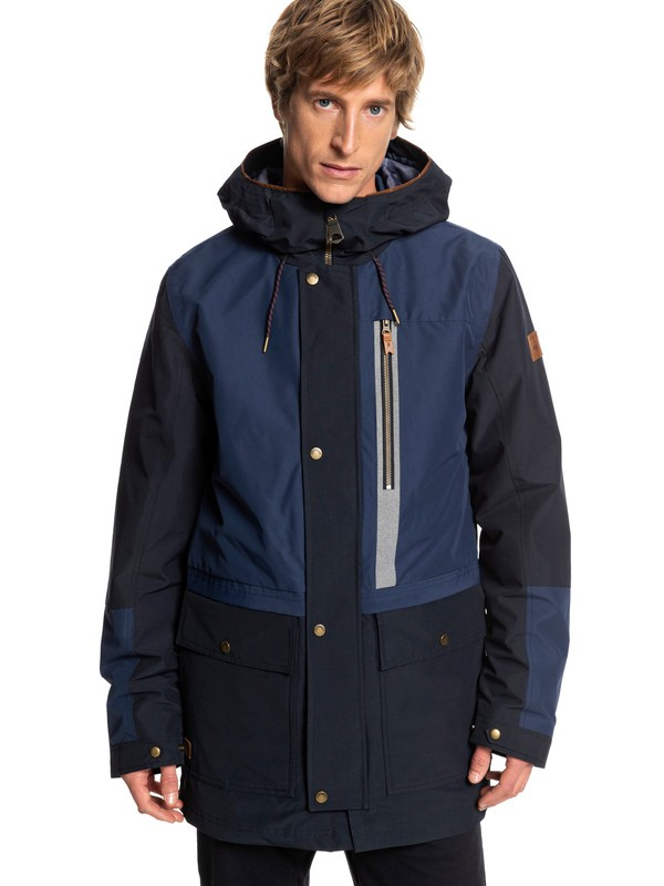 0 Sedona - Waterproof Hooded Parka for Men Blue EQYJK03410 Quiksilver