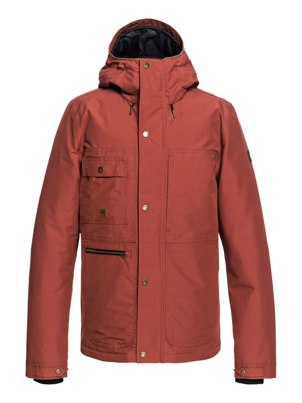 0 Canyon - Waterproof Hooded Parka for Men Red EQYJK03412 Quiksilver