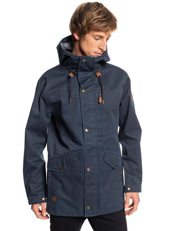 0 Cascade 3L - Waterproof Hooded Parka for Men Blue EQYJK03414 Quiksilver