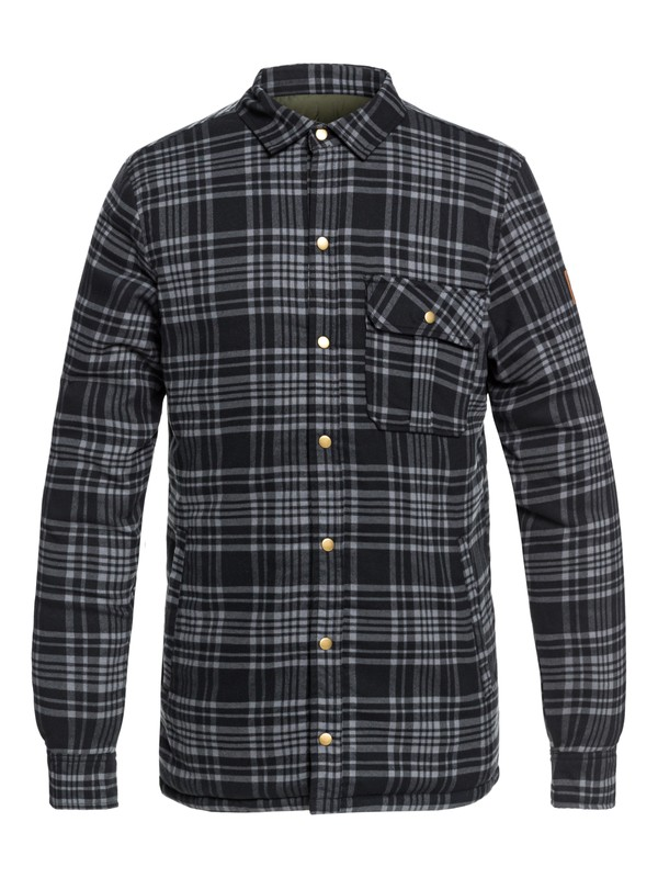0 Wildard Plaid - Waterproof Over Shirt for Men Brown EQYJK03416 Quiksilver