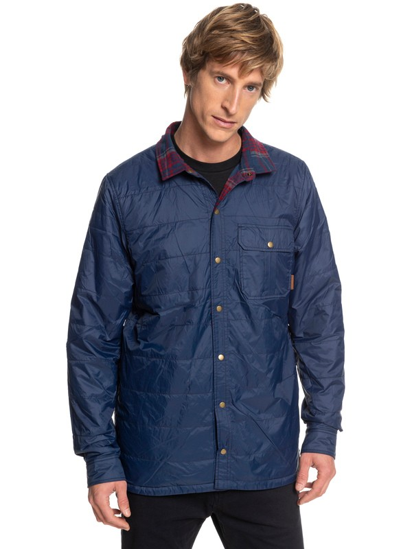 0 Wildard Plaid - Waterproof Over Shirt for Men Blue EQYJK03416 Quiksilver