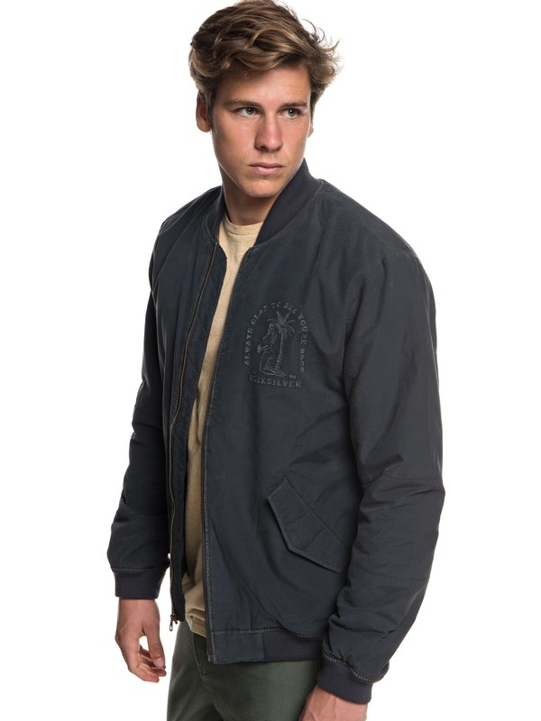 0 Hakata Bay - Bomber Jacket for Men Black EQYJK03433 Quiksilver