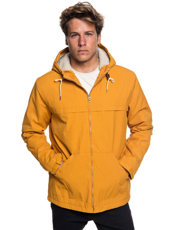 0 Wanna - Parka à capuche déperlante pour Homme Orange EQYJK03434 Quiksilver