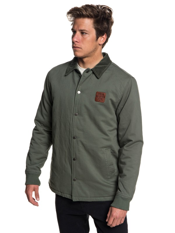 0 Kofuji Water Resistant Coaches Jacket Brown EQYJK03435 Quiksilver
