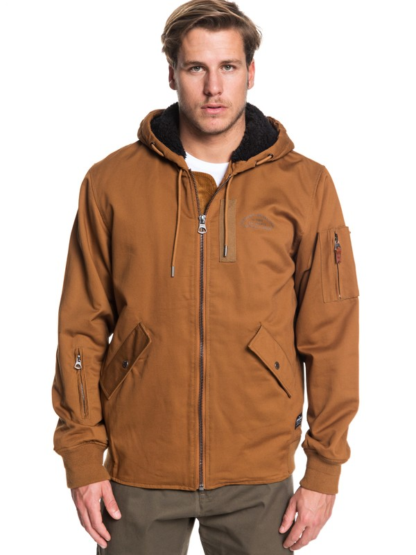 0 Hana Go - Water-Resistant Hooded Jacket for Men Brown EQYJK03436 Quiksilver