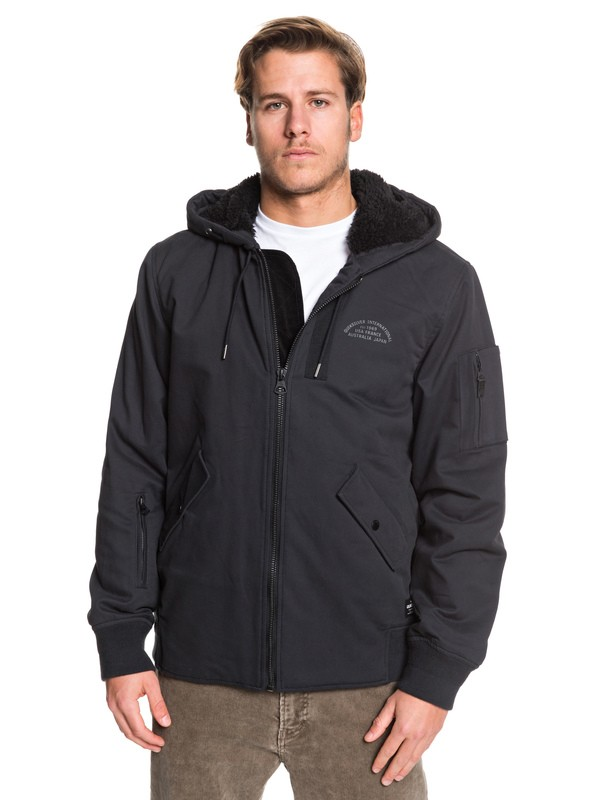 0 Hana Go - Water Resistant Hooded Jacket Black EQYJK03436 Quiksilver