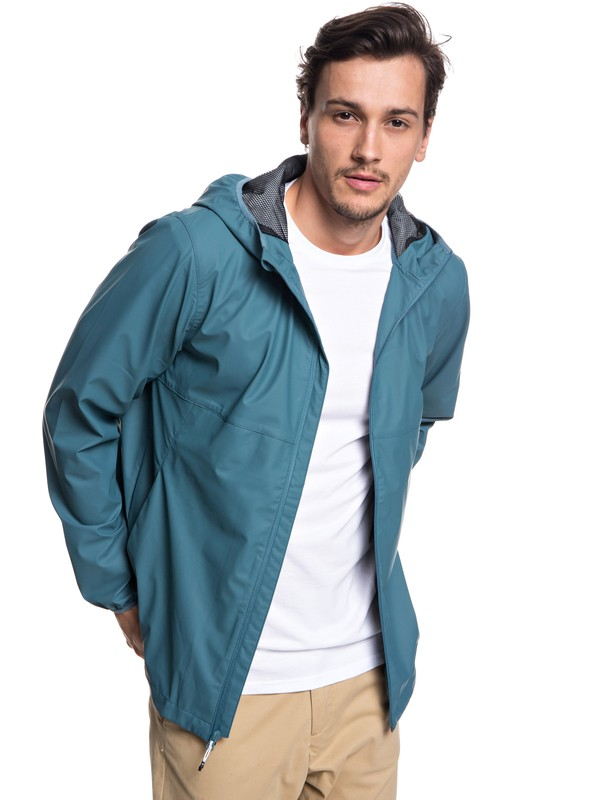 0 Kamakura Rains - Hooded Raincoat Blue EQYJK03438 Quiksilver