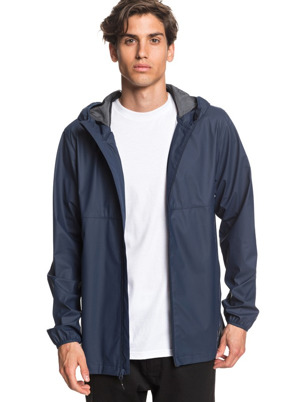 0 Kamakura Rains Hooded Raincoat Blue EQYJK03438 Quiksilver