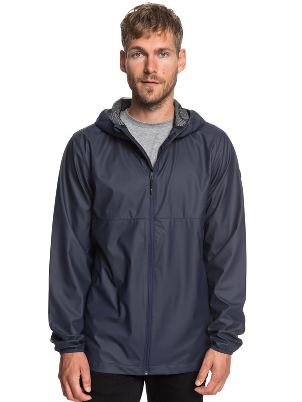 0 Kamakura Rains - Hooded Raincoat for Men Blue EQYJK03438 Quiksilver