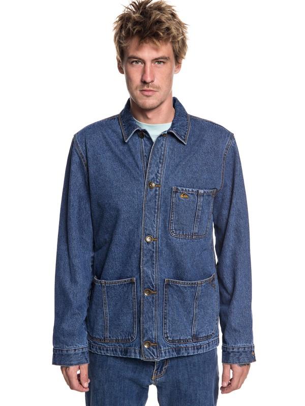 0 Rad Trad - Denim Jacket for Men Blue EQYJK03444 Quiksilver