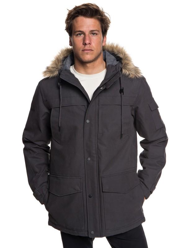 0 Storm Drop 5K - Parka impermeable con capucha para Hombre Negro EQYJK03445 Quiksilver